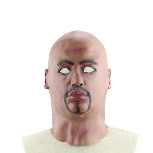 Buy Realistic Latex Human Mask Scary Full Head Male Man Masks Halloween Costume Cosplay Fancy Dress