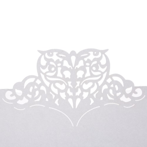 50Pcs Romantic Table Mark Carved Pattern Name Place Card for Wedding Birthday Banquet Decoration от Tomtop.com INT