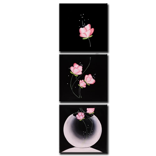 Buy Unframed Hand Painted Oil Painting Set Beautiful Flowers Modern Picture Canvas Paint Wall Decor Art Living Room Decoration