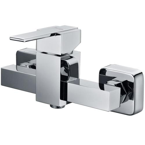 Buy Homgeek Modern Wall-mounted Brass Bath Bathtub Faucet Tap Polished Chrome Showering Mixer Bathroom Home Hotel
