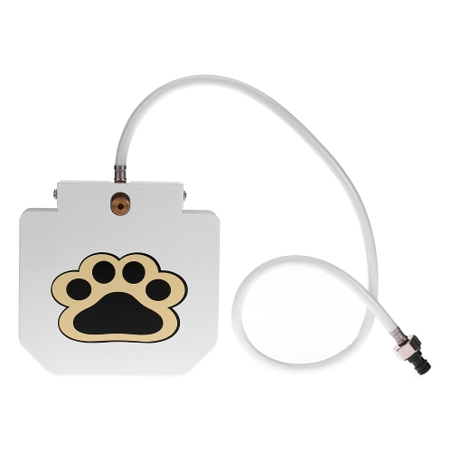 Buy Stainless Steel Pet Dog Cat Water Fountain Outdoor Step-on Waterer Drinking Fresh Tool Hose