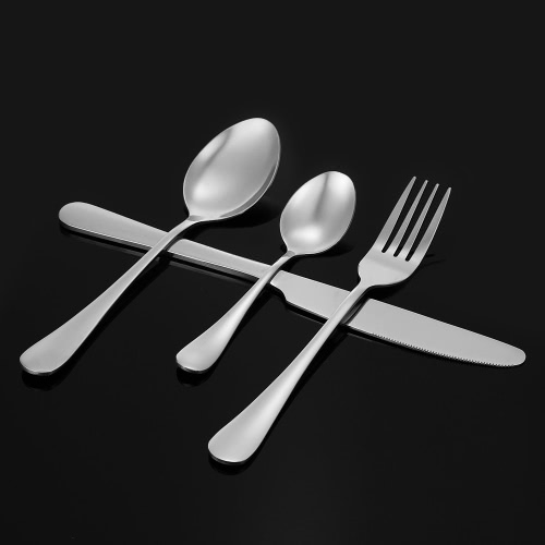 Buy 1High-end Western Tableware 4 Set Stainless Steel Flatware Good Quality Fork Knife Spoon Dessert Utensils