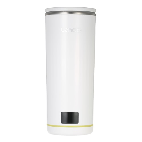 Lehoo White Portable Smart Mug Intelligent Cup Water Temperature Display 350ml Stainless Steel Bottle with Lid