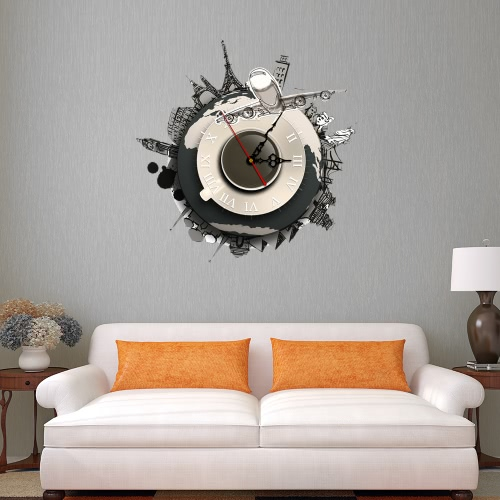 Buy 15.7 * 15.7'' DIY Removable 3D Wall Clock Sticker Quartz Movement Decortive Stickers Living Room Bedroom Decal Decor