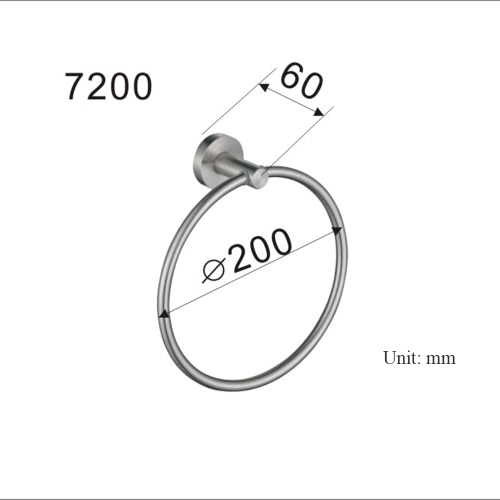Homgeek High-quality Practical Bathroom Accessory Brushed Stainless Steel Bath Towel Rack Holder Ring Hanging Wall-Mounted