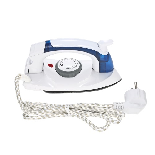Handheld Foldable Dry Steam Iron Adjustable Temperature Steamer Portable Ironing Machine for Travel Household Use AC220V-240V EU Plug