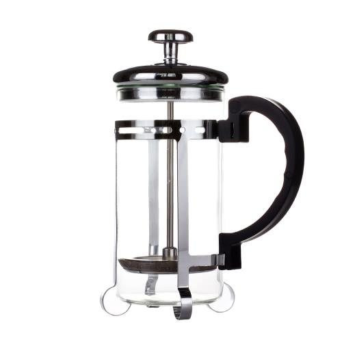 350ml Stainless Steel French Press Pot Cafetiere Coffee Cup Tea Filter 3-cup Coffee Maker Tea Maker with Coffee Spoon