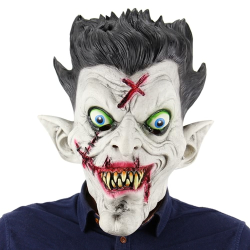 Buy Latex Full Head Scary Zombie Mask Horror Toothy Ghost Masks Halloween Masquerade Costume