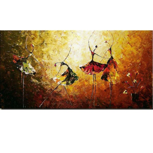"24""*48"" Hand Painted Oil Painting Ballet Dancer Unframed Canvas Wall Picture Wall Decoration Paintings Beautiful Room Decoration 60*120cm Painting Home Decoration Housewarming Gift от Tomtop.com INT"