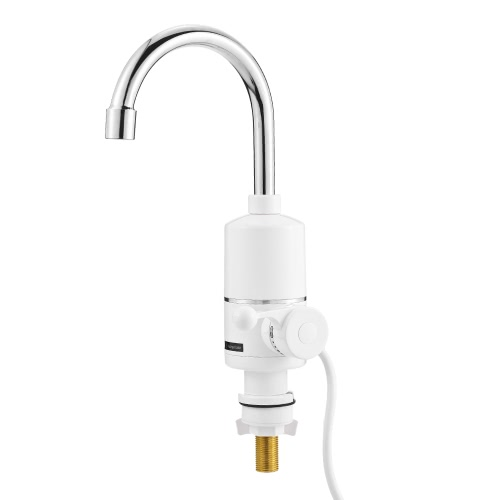 Buy Bathroom Kitchen Electric Hot Water Faucet Single Handle Heater Deck Mounted Tankless Instant Heating