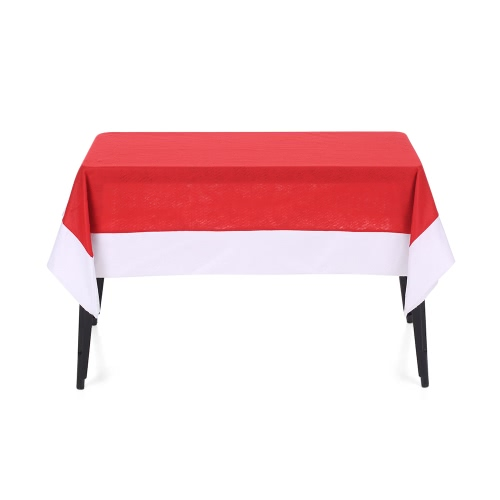 70 * 52'' Rectangular Red Christmas Table Cloth Non-woven Fabrics Coffee Table Cover Tablecloths Christmas Decorations Ornaments