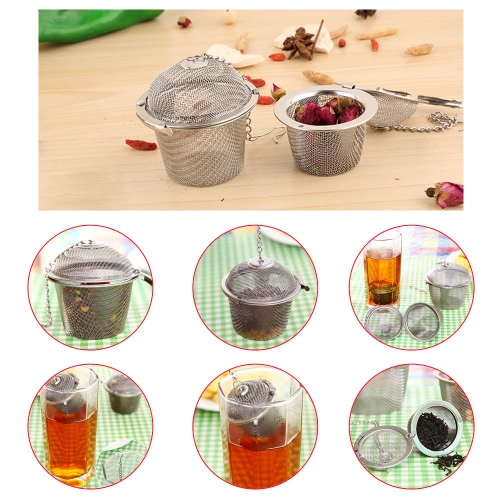 Buy Practical Stainless Steel Mesh Tea Strainer Infuser Loose Leaf Filter Teapot Mug Cup Tool