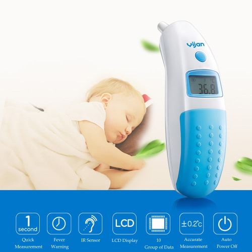 Yijan Digital IR Infrared Thermometer for Adult Baby Quick Safe Measurement LCD Display от Tomtop.com INT