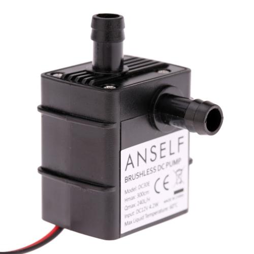 Buy Anself Ultra-quiet Mini DC12V 4.2W Micro Brushless Water Oil Pump Waterproof Submersible Fountain Aquarium Circulating 240L/H Lift 300cm