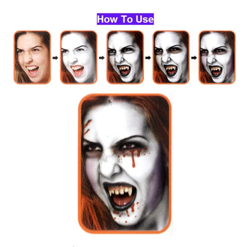 Buy FESTNIGHT Halloween Make Face Paint Kit Skin Friendly Kids Adults Zombie Makeup Vivid Costume Show Masquerade Ball Make-up Party