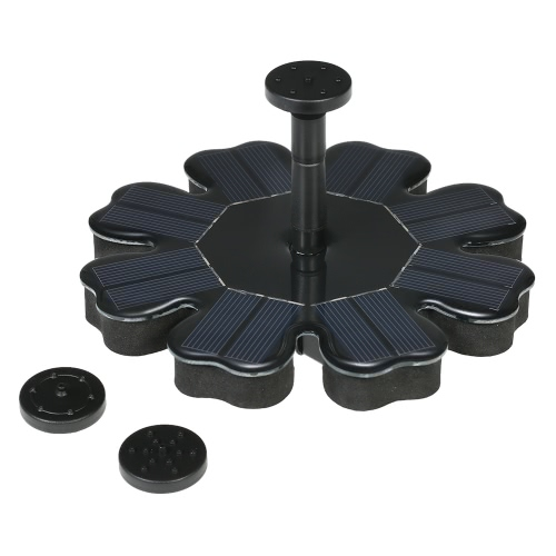 Buy Anself Solar Powered Fountain 8V 1.6W Panel Water Floating Brushless Pump Kit Bird Bath Pond Garden