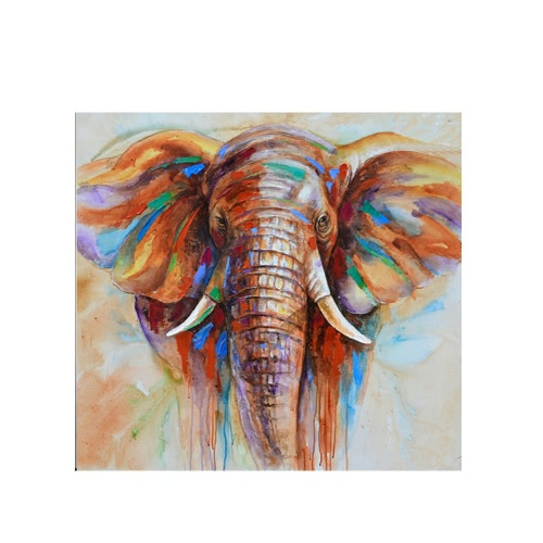 "32""*32"" Hand Painted Oil Painting Elephant Unframed Canvas Wall Picture Wall Decoration Paintings Beautiful Room Decoration 80*80cm Painting Home Decoration Housewarming Gift от Tomtop.com INT"