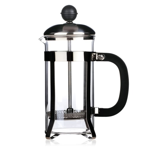 350ml Stainless Steel French Press Pot 3-Cup Cafetiere Coffee Cup Tea Filter Coffee Maker Tea Maker