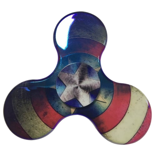 Buy Colorful Durable Spinner EDC Tri Hand Toy Anti-Anxiety Spins Ultra Fast Portable Fidget Work Killing Time Relieves Stress Relax