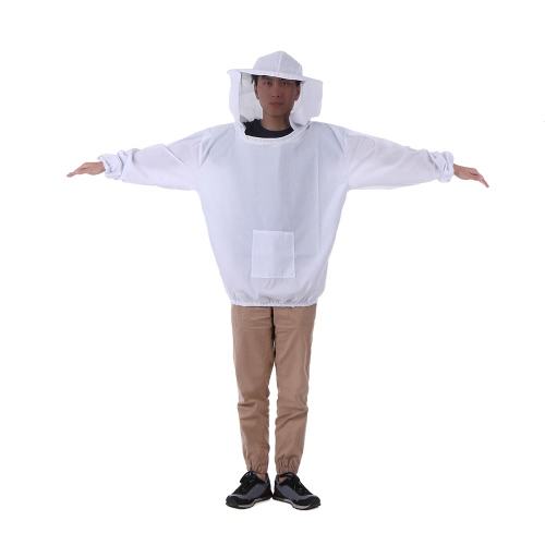 Buy White Beekeeping Jacket Veil Hat Suit Smock Protective Equipment Kit One Size Fits