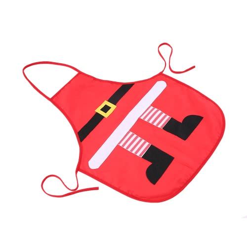 Natale Babbo Natale Stile Grembiule Rosso Poliestere Cotone Grembiule Natale Accessorio Ornamenti per le donne Uomini