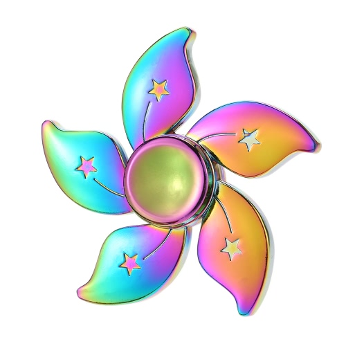Buy Colorful Rainbow Bauhinia Flower Star Spinner Metal EDC Finger Focus Toy Fidget Hand Autism Relief Stress Kid Adult Gift