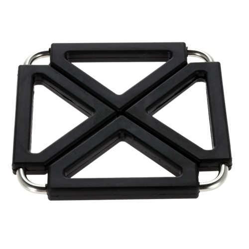 Expandable Silicone & Stainless Steel Heat Resistant Mat Hot Pot Holder Pads Table Accessory
