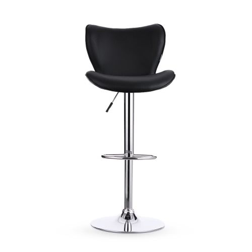 Buy iKayaa 2PCS/Set 2 PU Leather Swivel Bar Stool Chair Height Adjustable Pneumatic Counter Pub Barstools Heavy-duty