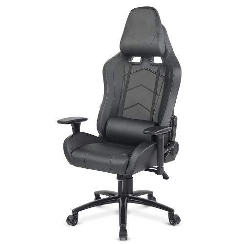 Buy iKayaa Ergonomic Racing Style Gaming Office Chair Cool Executive Computer W/ Recline Height & Armrest Adjustable Tilt Swivel Function + Headrest Waist Pillow