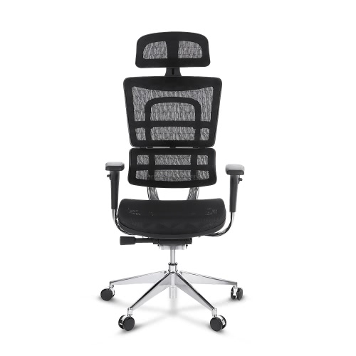 Buy iKayaa Multi-function Adjustable Mesh Ergonomic Office Chair Swivel Executive Computer Desk W/ Lumbar Support Tilt Slide Headrest Pass ANSI/BIFMA Standard