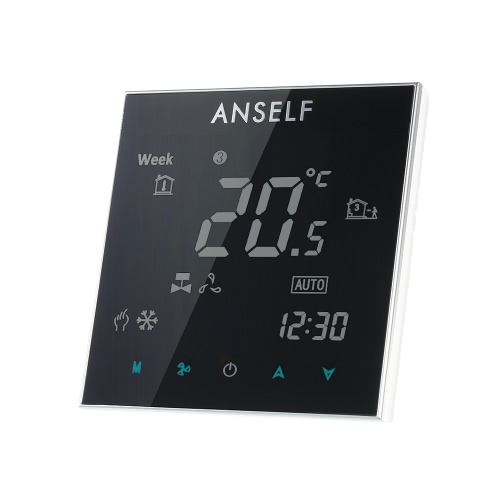Buy Anself 110~240V Air Conditioner Thermostat LCD Display Good Quality Touch Screen Programmable Room Temperature Controller Home Improvement Product