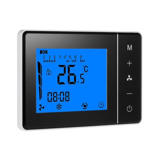 Buy 110~230V Air Conditioner 2-pipe 4-pipe Thermostat LCD Display Good Quality Touch Screen Programmable Room Temperature Controller Home Improvement Product