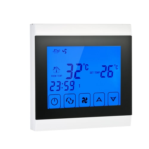 Buy 110-130V Air Conditioner 2-pipe Thermostat LCD Display Good Quality Touch Screen Programmable Room Temperature Controller Home Improvement Product