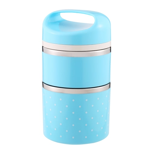 Buy 1080ml 2-Layer Good Quality Stainless Steel Thermal Lunch Box Practical Handy Insulation Multifunctional Heat & Cold Preservation Food Carrier Travel To-Go Containers