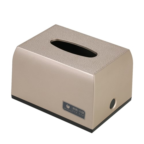 CHUANGDIAN Hotel Household Bathroom Facial Tissue Paper Dispenser Box Cover Napkin Holder Towels Decorative Leather Texture Rectangle Napkins Container For Table Top