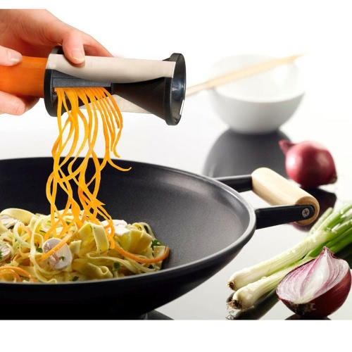 Compact Vegetables Fruits Funnel Julienne Spiral Twister Cutter Space-saving Kitchen Tool