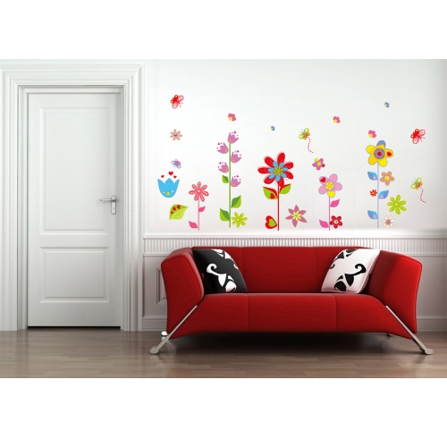Beautiful Flowers Floral Butterfly DIY Wall Stickers Wallpaper Art Decor  Mural Room Decal Part 76