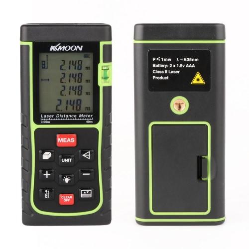Buy KKmoon RZE-40 40m/131ft Digital Laser Distance Meter Range Finder Measure Area Volume Bubble Level