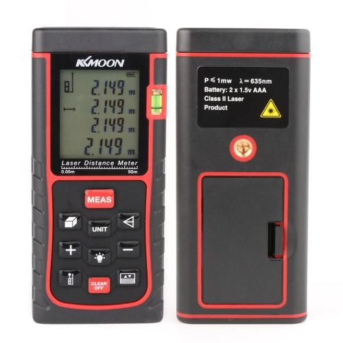 Buy KKmoon RZE-50 50m/164ft Digital Laser Distance Meter Range Finder Measure Area Volume Bubble Level
