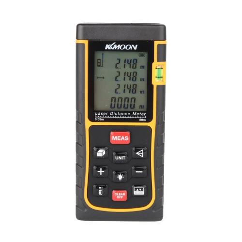 Buy KKmoon RZE-80 80m/262ft Digital Laser Distance Meter Range Finder Measure Area Volume Bubble Level