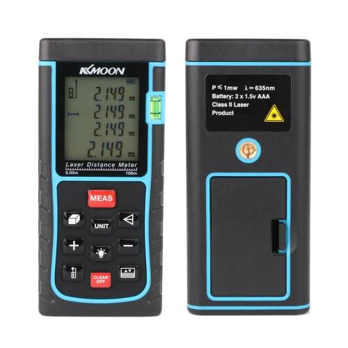 Buy KKmoon RZE-100 100m/328ft Digital Laser Distance Meter Range Finder Measure Area Volume Bubble Level