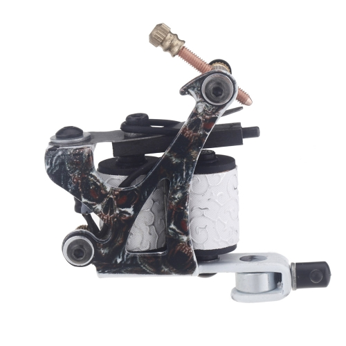 New Pro Tattoo Machine Gun Shader Liner 10 Wrap Coils Free Spring Multicolour от Tomtop.com INT