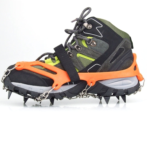 1 Pair 12 Teeth Claws Crampons Non-slip Shoes Cover Stainless Steel Chain Outdoor Ski Ice Snow Hiking Climbing Orange от Tomtop.com INT