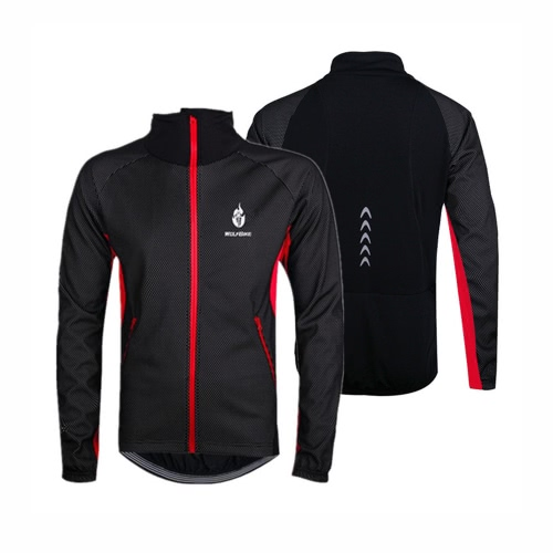 Buy WOLFBIKE Men Fleece Thermal Winter Cycling Jacket Windproof Bike Bicycle Wind Coat Clothing Casual Long Sleeve Jersey Waterproof Blue XL