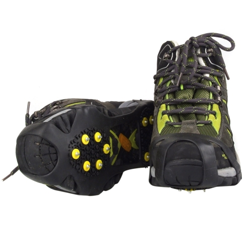 1 Pair 10 Teeth Mountaineering Shoe Covers Easy Crampons Ice/Snow Rainy Day Non-slip Outdoor L от Tomtop.com INT