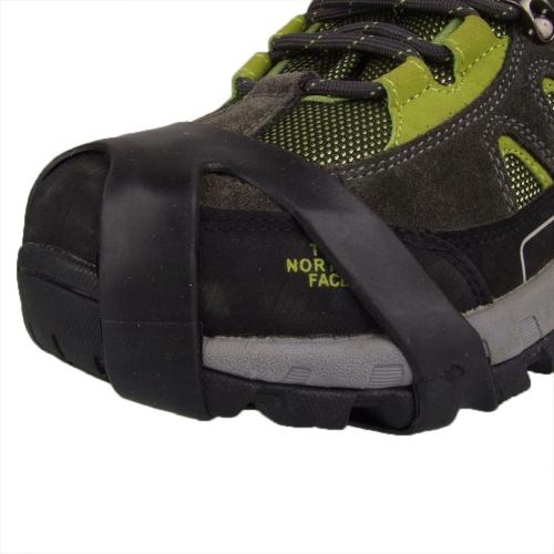 1 Pair 10 Teeth Mountaineering Shoe Covers Easy Crampons IceSnow Rainy Day Non-slip Outdoor M