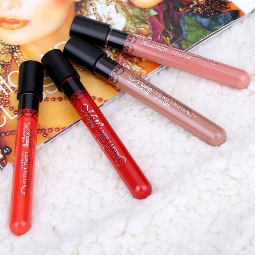 Professional Cosmetic Makeup Waterproof  Lip Gloss Lipgloss Velvet Lipstick Matt Vitality Cerise Star
