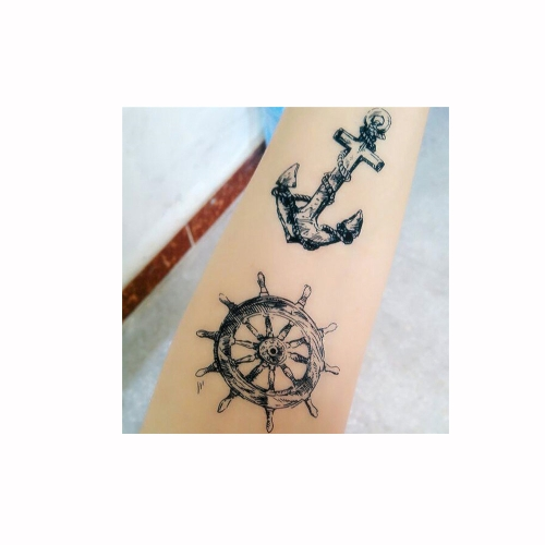 Tattoo Sticker Anchor Pattern Waterproof Temporary Tattooing Paper Body Art от Tomtop.com INT