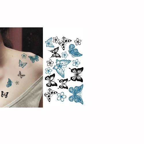 Buy Tattoo Sticker Butterflies Pattern Waterproof Temporary Tattooing Paper Body Art