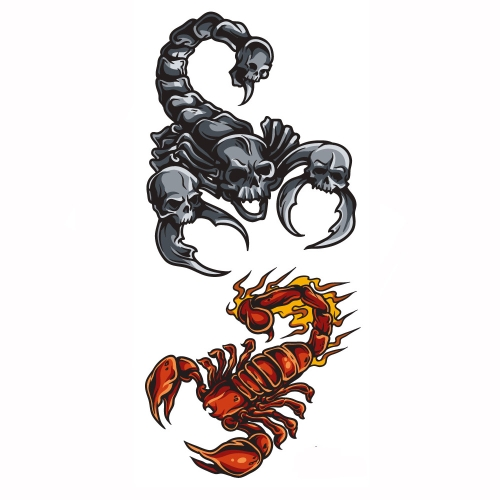 Tattoo Sticker Scorpions Pattern Waterproof Temporary Tattooing Paper Body Art от Tomtop.com INT